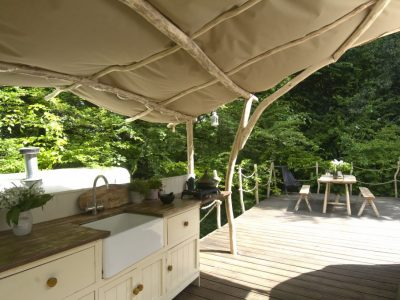 YURT KITCHEN UNDER CANOPY 1